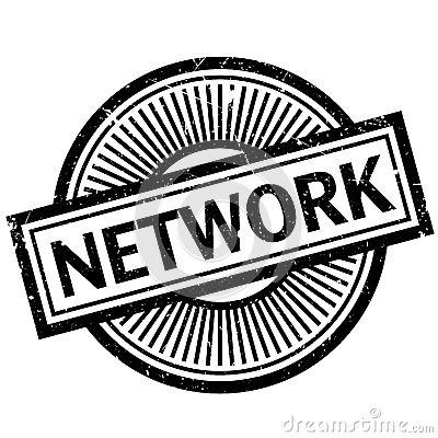 Network rubber stamp Vector Illustration