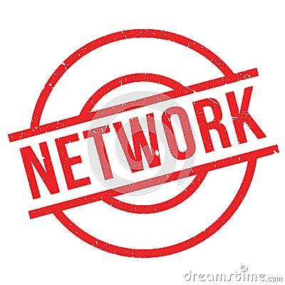 Network rubber stamp Vector Illustration