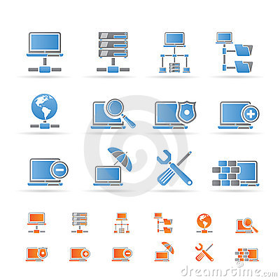 Free Network, Server And Hosting Icons Royalty Free Stock Images - 17915859