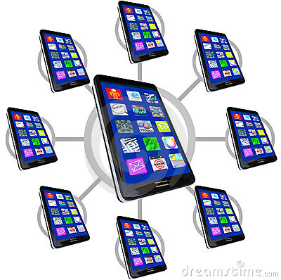 Network of Smart Phones with Apps