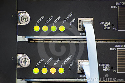 Network switch led and console