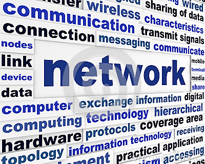 Network technical words concept