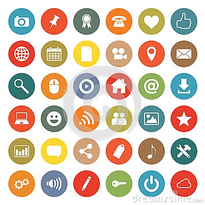 Free Networking Icons Stock Photo - 57516280