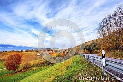 Neuchatel lake in Switzerland