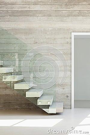 Moderne architektur, innenraum, treppenhaus stockfoto   bild: 44699335