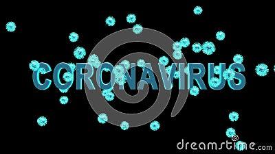 Neue Coronavirus-Epidemie, nachgewiesen durch Zellen von Cavid-19, multipliziert und verbreitet - 3D-Animation stock video footage