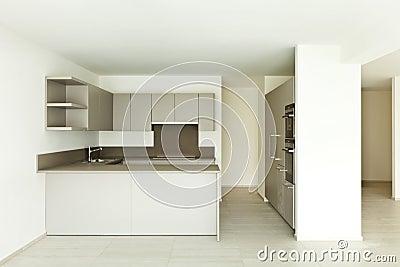 Lizenzfreies stockfoto neue leere wohnung küche