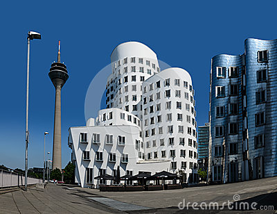 Neuer Zollhof, Duesseldorf, Germany Editorial Image