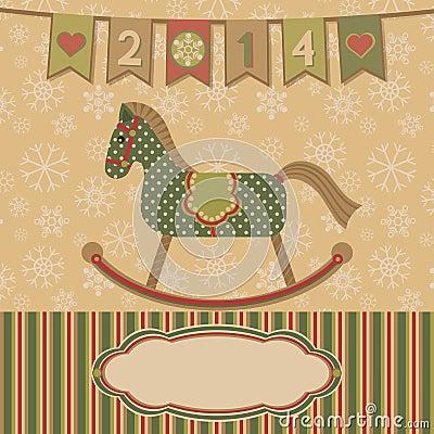 Neues Jahr 2014 mit dem Pferd.