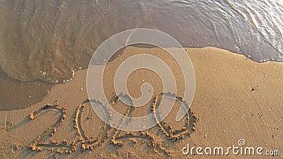 2020 Neujahr auf See stock footage