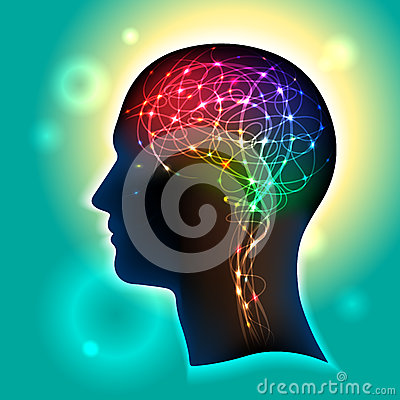 Neurons in the Brain Vector Illustration