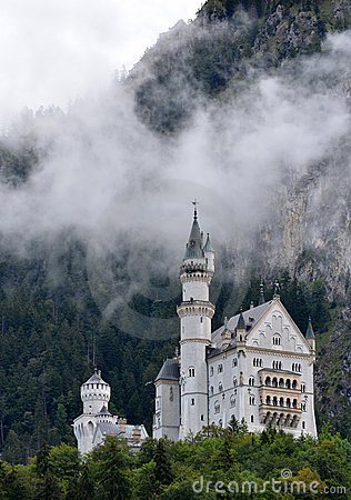 Neuschwanstein Castle in Bavaria, Germany Editorial Stock Image