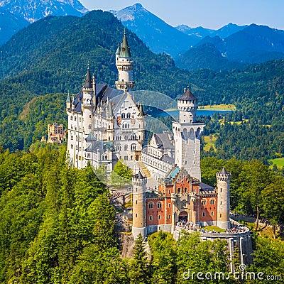 Free Neuschwanstein Castle, Bavaria, Germany Royalty Free Stock Photos - 68572728