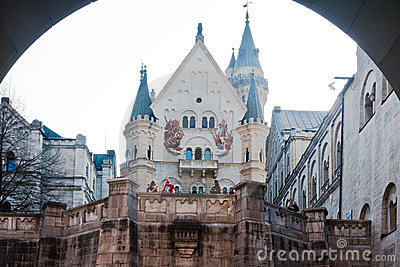 Neuschwanstein Castle Fussen Germany Editorial Photography