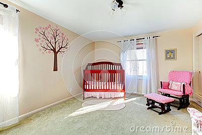 Neutral color baby nursery room
