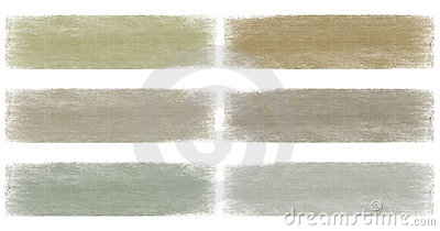 Neutral earth and grey faded grunge banner set