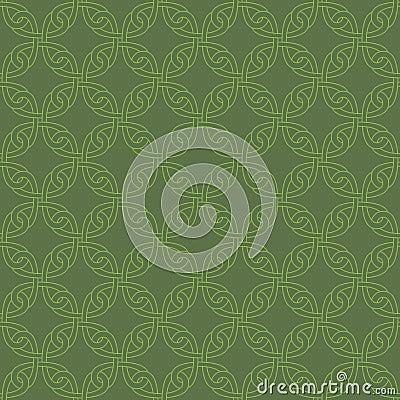Free Neutral Seamless Celtic Knotwork Pattern. Stock Photo - 82883230