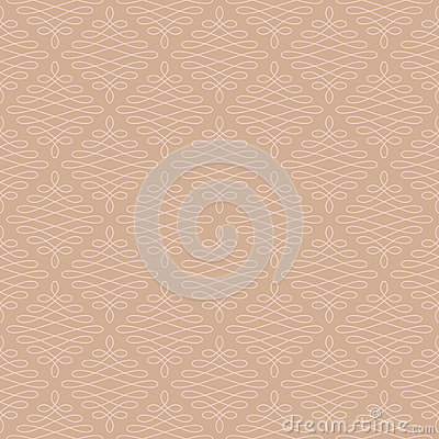 Free Neutral Seamless Linear Flourish Pattern. Royalty Free Stock Images - 82883419