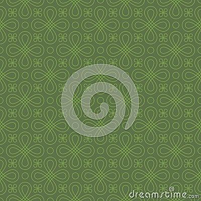 Free Neutral Seamless Linear Flourish Pattern. Royalty Free Stock Photography - 82883437