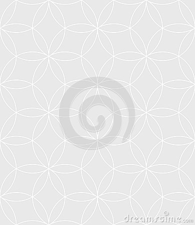 Free Neutral Seamless Linear Pattern. Geometric Circles Vector Backgr Royalty Free Stock Images - 83862789