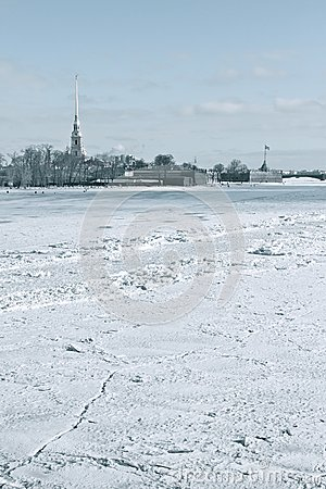 The Neva and Peter and Paul Fortress