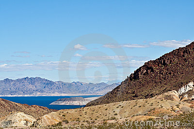 Nevada Desert And Lake Mead