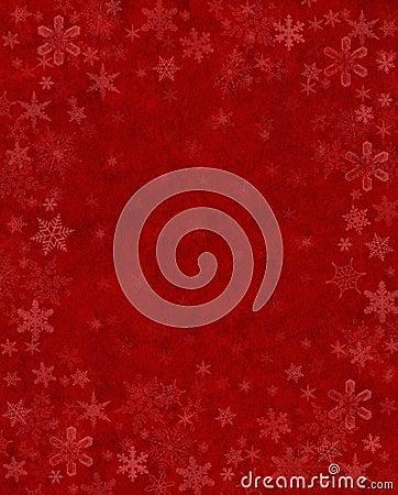 Neve sottile su colore rosso