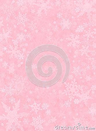 Neve sottile sul colore rosa