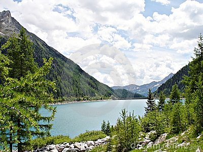 The Neves Reservoir in South Tyrol