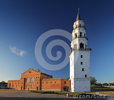 Nevjansky falling tower of XVIII century
