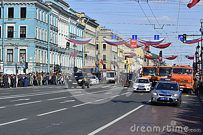 Nevsky Prospect, Saint Petersburg, Russia Editorial Stock Photo