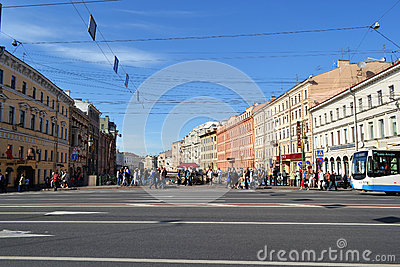 Nevsky Prospect, Saint Petersburg, Russia Editorial Photo