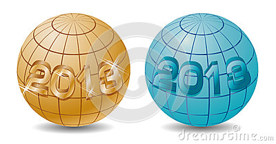 New 2013 year on the globe