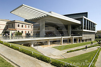 New Acropolis Museum in Athens Editorial Stock Photo