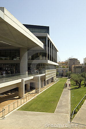 New Acropolis Museum in Athens Editorial Photography