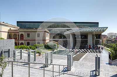 New Acropolis museum, Athens, Greece Editorial Stock Photo