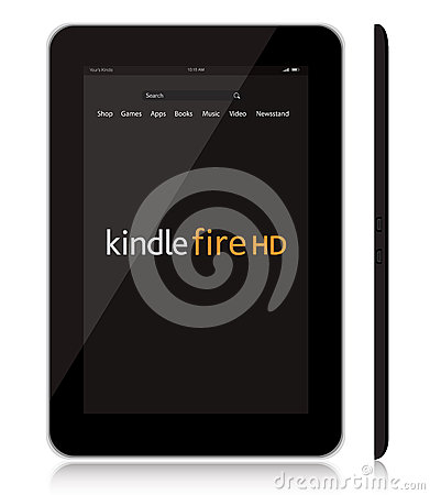New Amazon Kindle Fire HD tablet Editorial Stock Photo