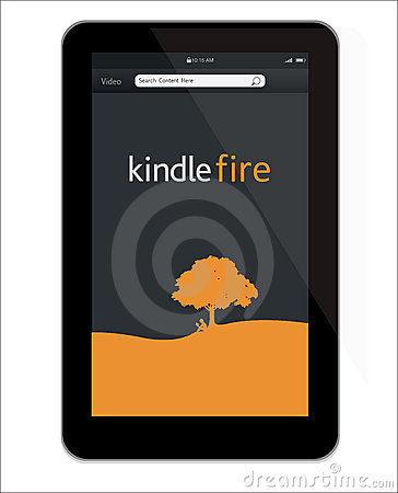 New Amazon Kindle Fire tablet Editorial Stock Image