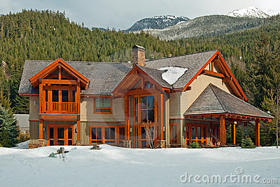 New american wooden dream home