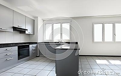 New apartment, empty kitchen