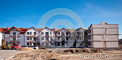 Apartments building under development