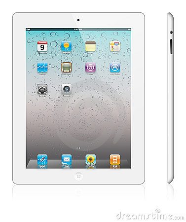 New Apple iPad 2 white version Editorial Stock Image
