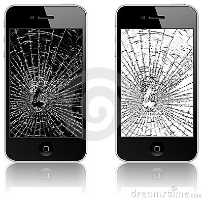 Free New Apple IPhone 4 Broken Royalty Free Stock Image - 14737136