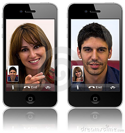 New Apple iPhone 4 video calling Editorial Photography