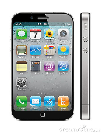 New Apple iPhone 5 Concept Editorial Stock Image