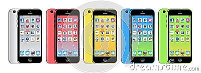 New Apple iphone 5c Editorial Stock Image