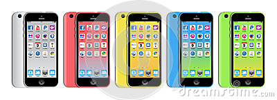 New Apple iphone 5c Editorial Stock Image