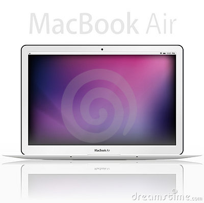 Free New Apple Mac Book Air - Vector Royalty Free Stock Photo - 16954595