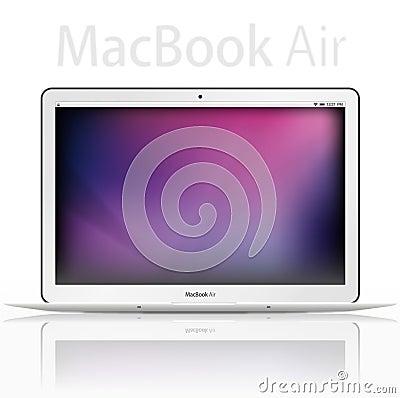 new Apple mac book air - vector Editorial Image