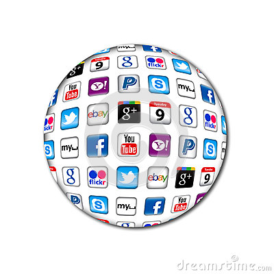 New Apps communication bubble Editorial Stock Photo